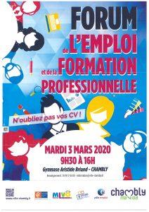 Affiche du forum de l'emploi et de la formation professionnelle